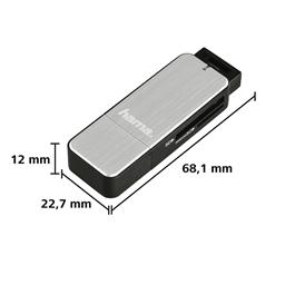 USB 3.0 Card Reader SD/microSD - Silver