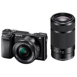 Sony A6000 mirrorless digital camera + 16-50mm PZ Lens + 55-210mm Lens - Black thumbnail