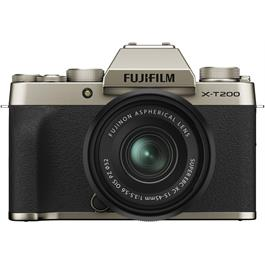 Fujifilm X-T200 Mirrorless Camera With 15-45mm XC Lens Kit Champagne thumbnail