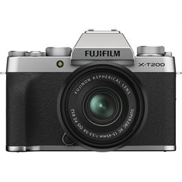 Fujifilm X-T200 Mirrorless Camera With 15-45mm XC Lens Kit Silver thumbnail