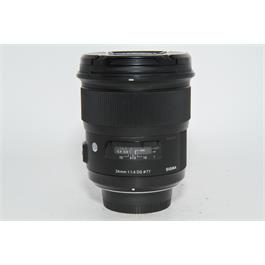 Sigma Used Sigm 24mm f1.4 Art Lens Nikon Fit thumbnail