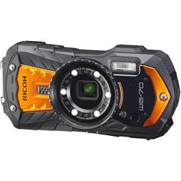 Ricoh WG-70 Waterproof Rugged Camera Orange Thumbnail Image 1