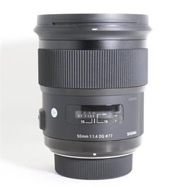 Used Sigma 50mm F/1.4 DG HSM Art Nikon thumbnail