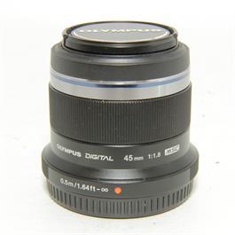 Used Olympus 45mm f1.8 Black Lens thumbnail