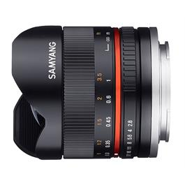 Samyang 8mm f/2.8  Fisheye II Black Lens- Sony E Mount thumbnail