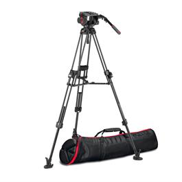Manfrotto 509 Video Head with 645 Fast Twin Carbon Tripod thumbnail