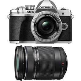 Olympus OM-D E-M10 Mark III & 14-42mm EZ & 40-150mm Twin Lens Kit - Silver thumbnail