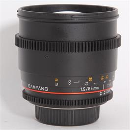 Used Samyang 85mm T/1.5 VDSLR - Nikon thumbnail