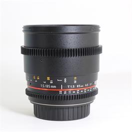 Used Samyang 85mm T/1.5 VDSLR II Canon thumbnail