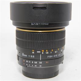 Used Samyang 8mm f3.5 Fisheye Nikon fit thumbnail