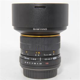 Used Samyang 14mm f2.8 UMC Lens-Canon thumbnail