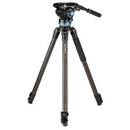Benro C373F Carbon Fibre Video Kit S8PRO Head with 75mm Half Ball thumbnail