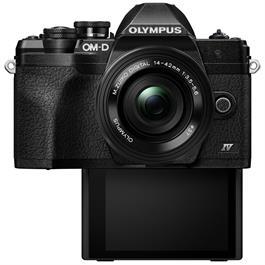 Olympus OM-D E-M10 Mark IV MFT Camera With 14-42mm EZ Lens Kit Black Thumbnail Image 2