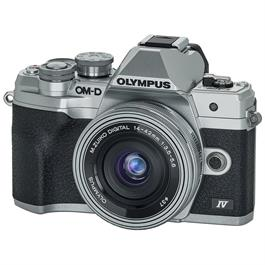 Olympus OM-D E-M10 Mark IV MFT Camera With 14-42mm EZ Lens Kit Silver thumbnail