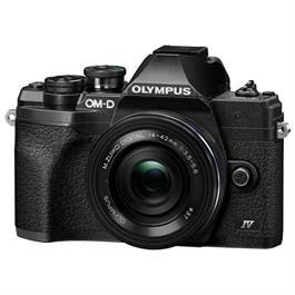 Olympus OM-D E-M10 Mark IV MFT Camera With 14-42mm EZ Lens Kit Black Thumbnail Image 1