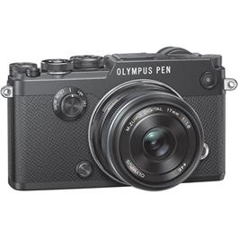 Olympus PEN-F Black Angle with 17mm F1.8