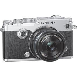 Olympus PEN-F Silver Angle with 17mm F1.8