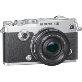 Olympus PEN-F Silver Angle with 14-42mm F3.5-5.6