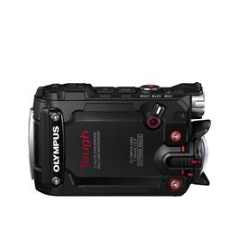 Olymous Tough TG-Tracker Action Camera In Black Side View