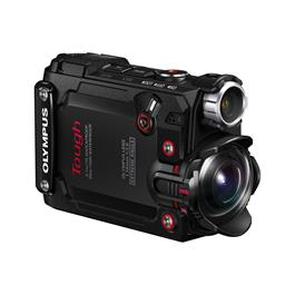 Olymous Tough TG-Tracker Action Camera In Black  3/4 View