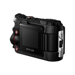 Olymous Tough TG-Tracker Action Camera In Black Rear 3/4 View