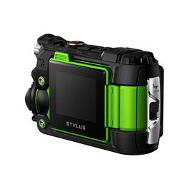 Olympus Tough TG-Tracker Action Camera - Green 3/4 Rear View