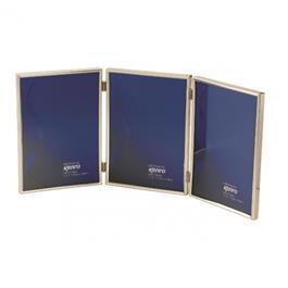 "Kenro Symphony Classic Triple 6x4"" Photo Frame - Silver thumbnail"