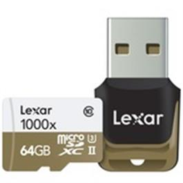 Lexar 64GB Micro SDHC 1000X UHS-II thumbnail
