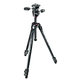 Manfrotto MK290XTC3-3W 3 Section Carbon Fibre Tripod with 804-3W 3-Way Head thumbnail