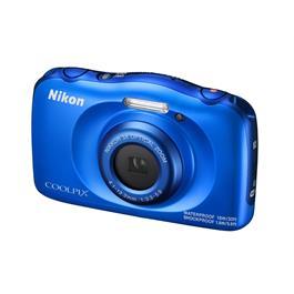 Nikon Coolpix W100 Blue Front Angle Left