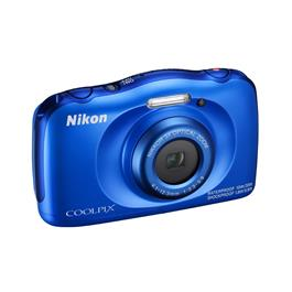 Nikon Coolpix W100 Blue Front Angle Right