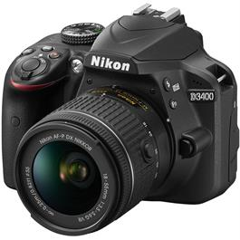 Nikon D3400 Body with 18-55 VR Kit Front Angle Left