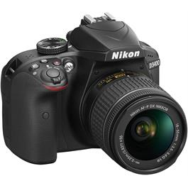 Nikon D3400 Body with 18-55 VR Kit Front Angle Right