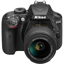 Nikon D3400 Body with 18-55 VR Kit Front Angle Top