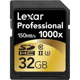 Lexar 32GB Professional 1000x UHS-II SDHC thumbnail
