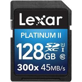 Lexar 128GB SDXC 300X 45MBs Class 10 thumbnail