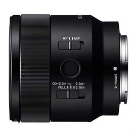 Sony FE 50mm f/2.8 Macro left side