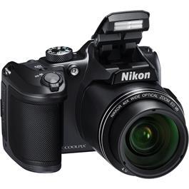 Nikon Coolpix B500 Black Front Angle Flash