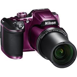 Nikon Coolpix B500 Plum Front Angle Zoom