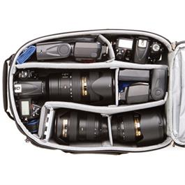 inside bag showing compartments with example kit