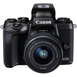 Canon EOS M5 with EF-M 15-45 Kit Front with Flash