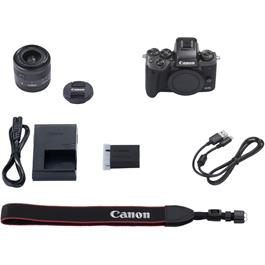 Canon EOS M5 with EF-M 15-45 Kit Accessories