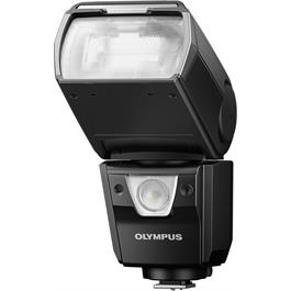 Olympus FL-900R Wireless Flash Front Angle Flipped Up