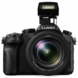 Panasonic FZ2000 Front with Flash Up