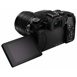 Panasonic G80 with 12-60 Kit Lens Back Angle with Screen