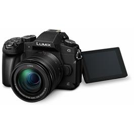 Panasonic G80 with 12-60 Kit Lens Front Angle with Screen