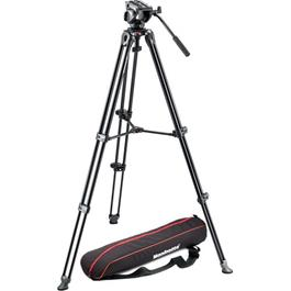 Manfrotto 500 Twin Leg Aluminium Tripod with 500 Fluid Head Kit thumbnail