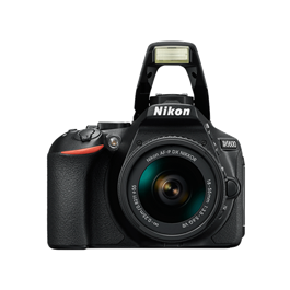 Nikon D5600 18-55 VR Kit Front with Flash Up
