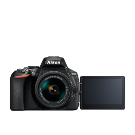 Nikon D5600 18-55 VR Kit Front with Screen Flipped