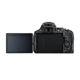 Nikon D5600 18-55 VR Kit Back with Screen Flipped